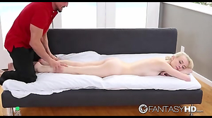 Man expresses desire to massage petite blonde and not only