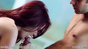 Boyfriend's hardness turned dazzling redhead on