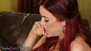 MILF with red hair gives new housemaid lesbian experience