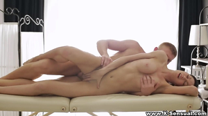 Hot masseuse sleeps with client during session