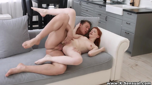 Dazzling redhead enjoys the wildest anal sex of her life