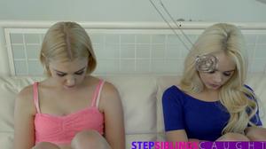Dazzling blondes are hypnotized by tricky buddy