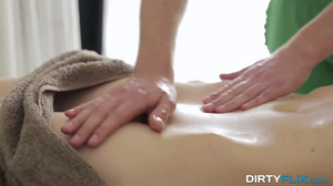 Lubed Russian girl does anal with masseur in HD video