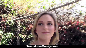TeensLoveMoney - Skinny Blonde Offers Pussy For Money
