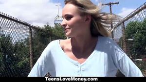 TeensLoveMoney - Skinny Blonde Offers Pussy For Money
