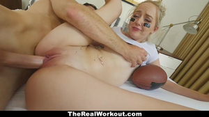 TheRealWorkout- Busty Blonde Drilled By Huge Cock