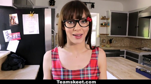 Nerdy Brunette Fucked By Repairman