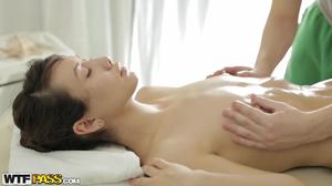 Skinny brunette gets hardcore fun during xxx massage