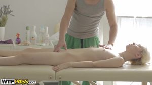 Nice blonde babe nailed in awesome xxx massage video