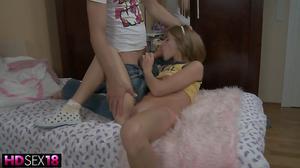 Little lovely girl gets a proper hard fuck in HD video
