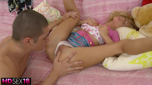 Beautiful blonde girl gets fingered and toyed in HD video