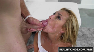 Big ass blonde showing AMAZING flexibility during raw sex