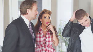 Retro housewife fucking a spry young stud