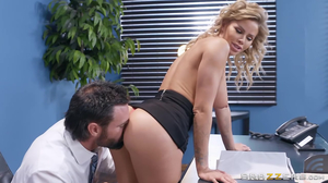 Big tits beauty getting fucked during a regular meeting