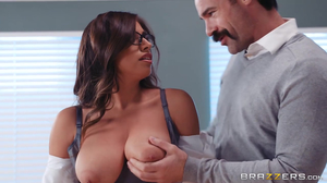 Immoral teacher comforts a big breasted student