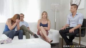 Horny MILF cannot stop fucking younger dudes